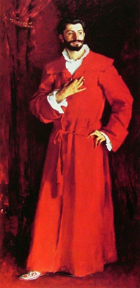 Доктор Поззи, дома 1881 Сарджент (Сарджент, Джон Сингер (1856-1925), .Dr. Pozzi at Home,1881 Sargent, John Singer (1856-1925)