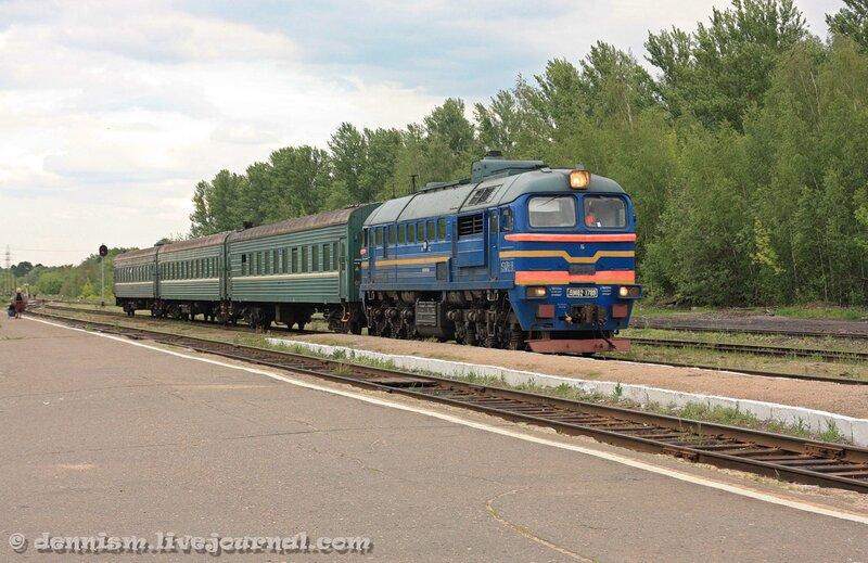 Станция Калязин. Пригородный поезд Углич - Савёлово.