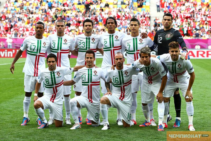 Командное фото сборной Португалии. сборная дании - футбол сборная