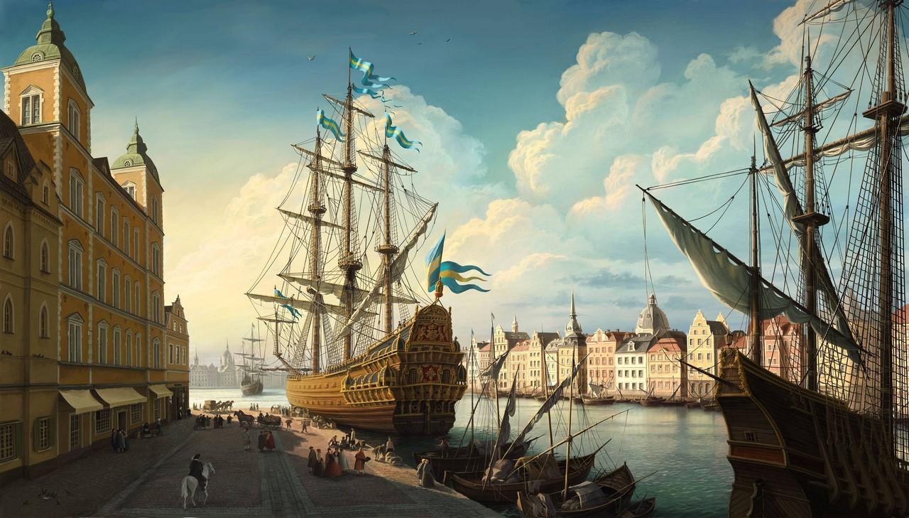Картинки по запросу Старинный корабль в порту