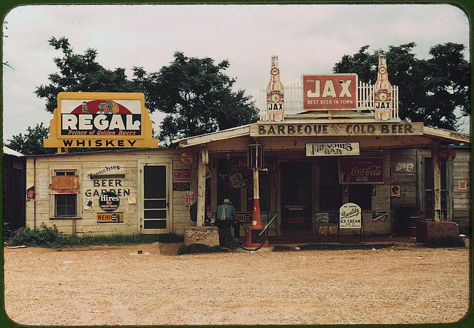 A crossroads store, bar,