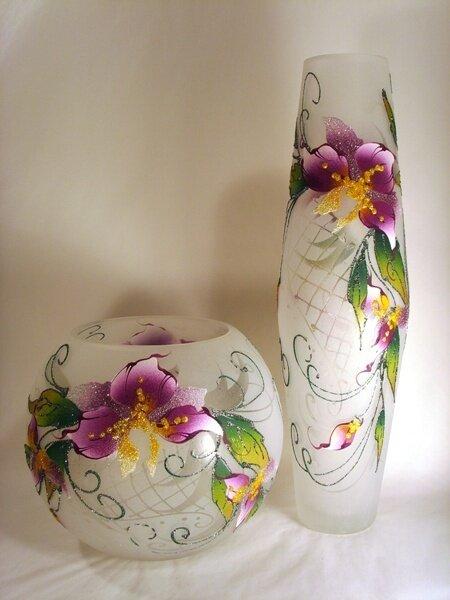 Роспись по вазе