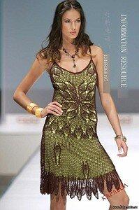 Гламурное черно-зеленое платье Наши воплощения