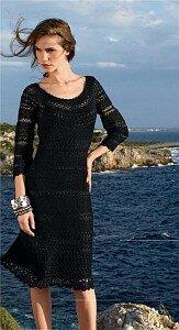Черная жемчужина - платье крючком