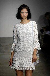 Летний зефир - белоснежное платье с шишечками. Наши воплощения