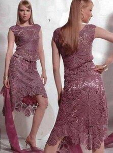 Вяжем крючком розовый костюм из Журнала мод 503 Наши воплощения