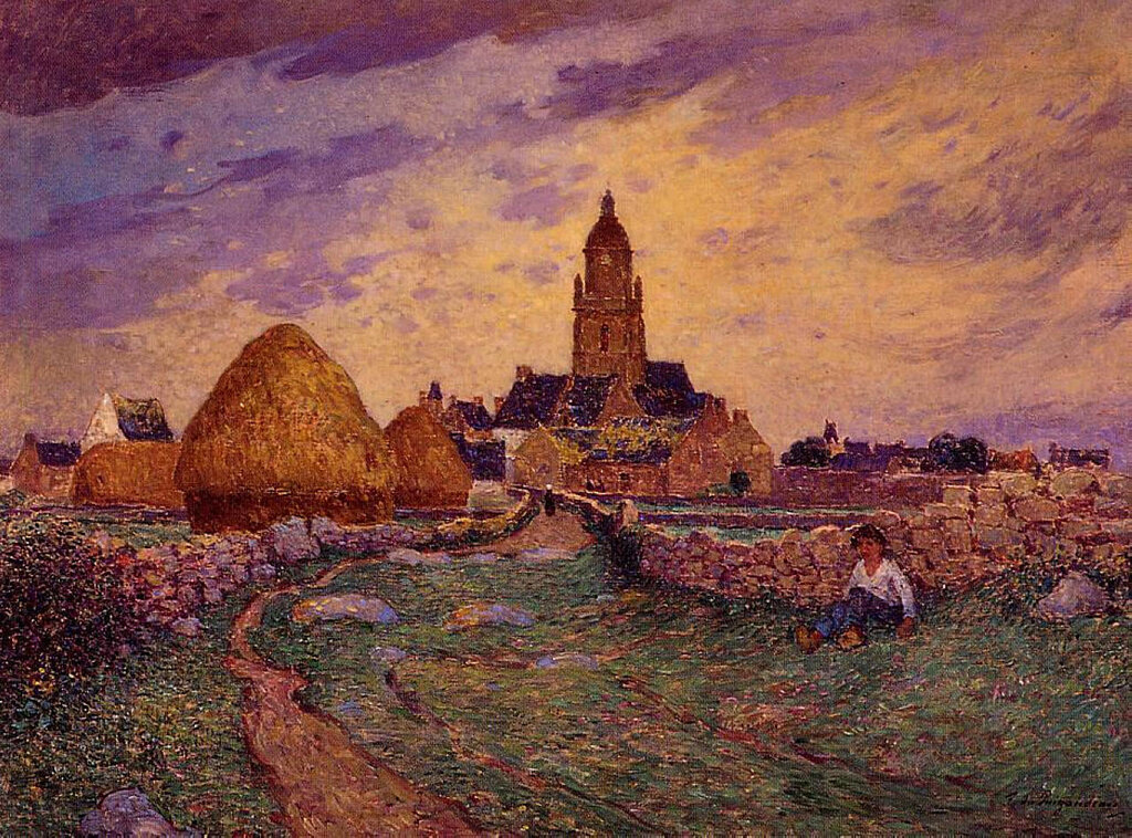 Ferdinand du Puigaudeau - Path in Front of the Church of Croisic.jpeg