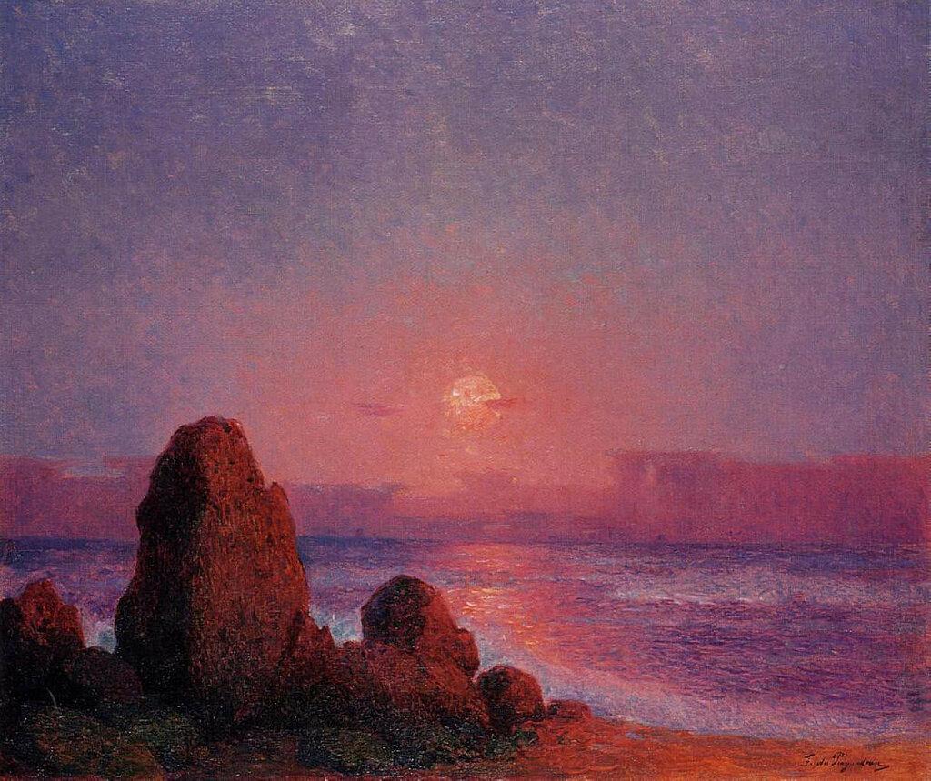 Ferdinand du Puigaudeau - Sunset of the Breton Coast.jpeg