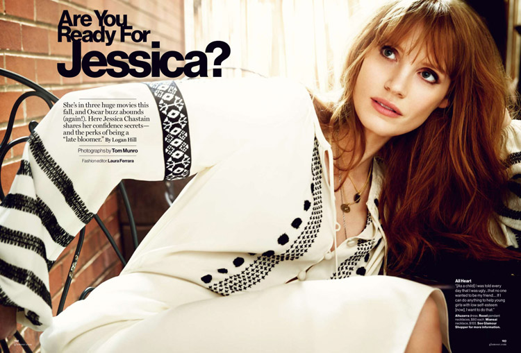 Джессика Честейн (Jessica Chastain) в журнале American Glamour