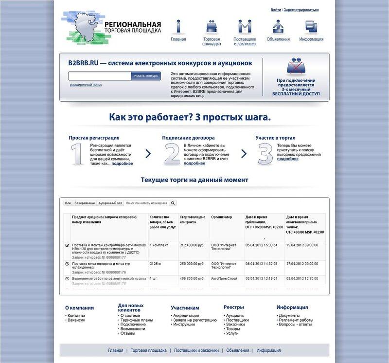 сайт электронных торгов и конкурсов