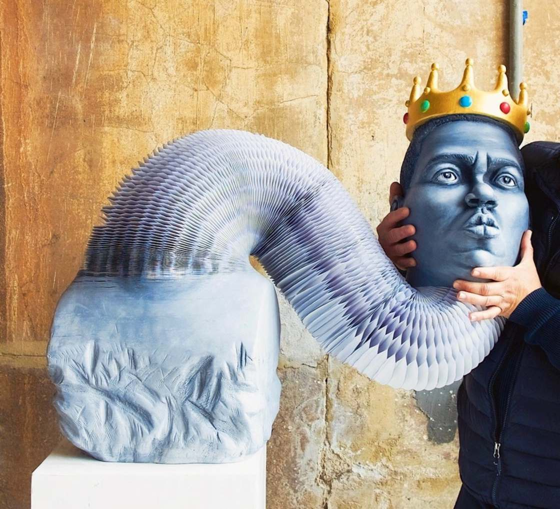 Big Poppa - An amazing flexible sculpture in tribute to Notorious B.I.G