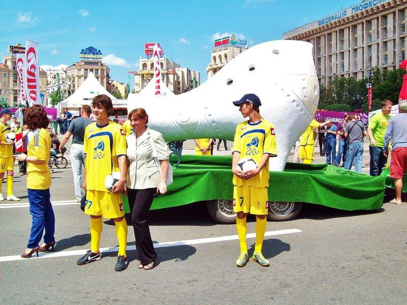 Зозулица на Майдане Незалежности