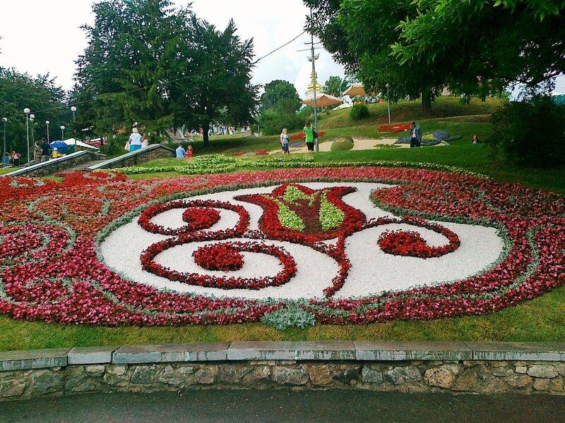 Стилизованный цветочный тюльпан Евро 2012