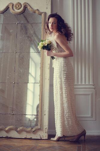 свадебные платья на корсете