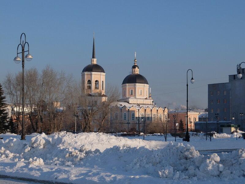 Томск - Богоявленский собор - Вид с набережной