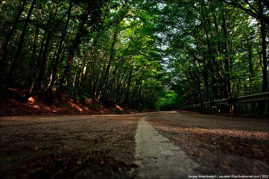Дорога на Байдарский перевал