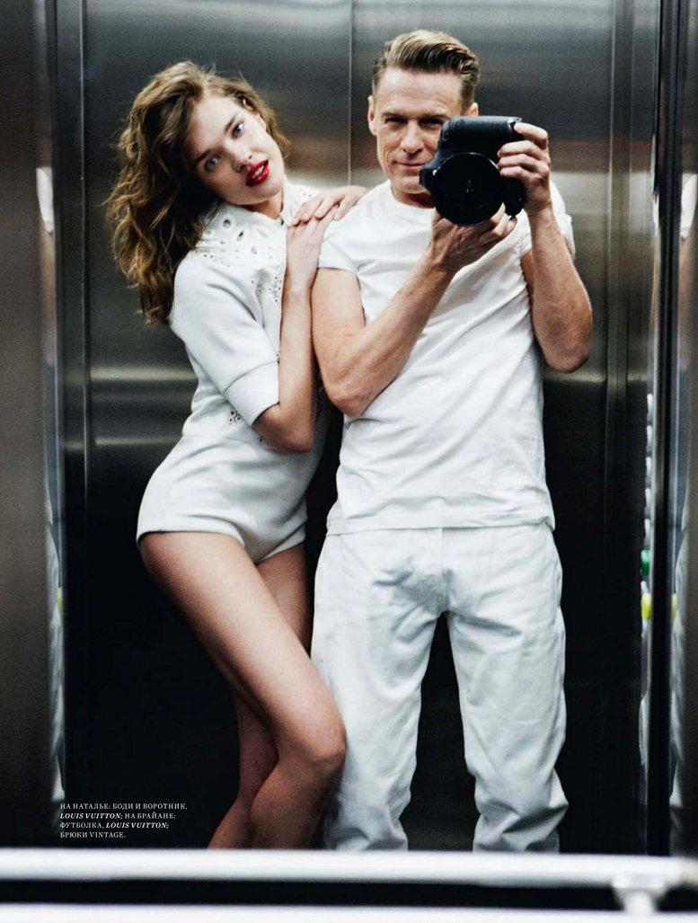 Natalia Vodianova / Наталья Водянова, фотограф Bryan Adams в журнале Harpers Bazaar Россия, июль 2012