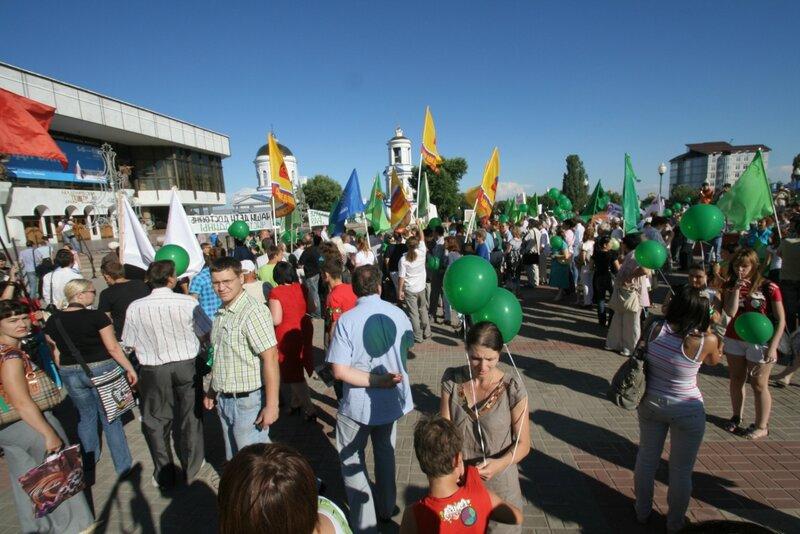 митинг против разработки никеля в Воронежской области 18 июня 2012