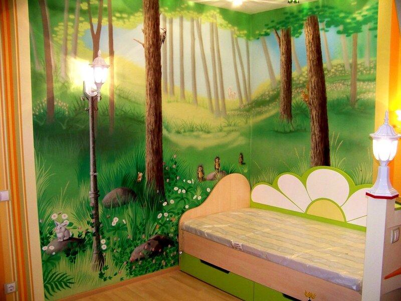 художественное декорирование детской комнаты