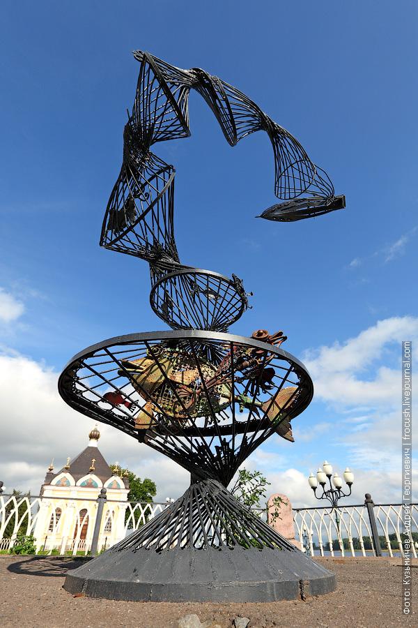 скульптура Трал на набережной Рыбинска
