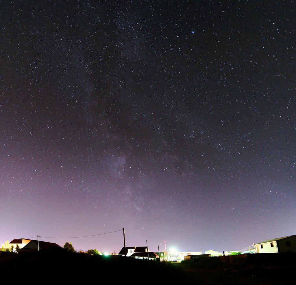 Млечный путь в степи, город Ясный