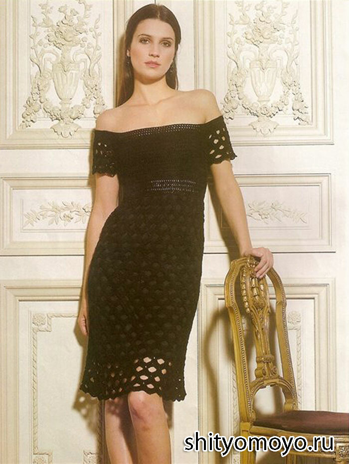 Элегантное черно платье