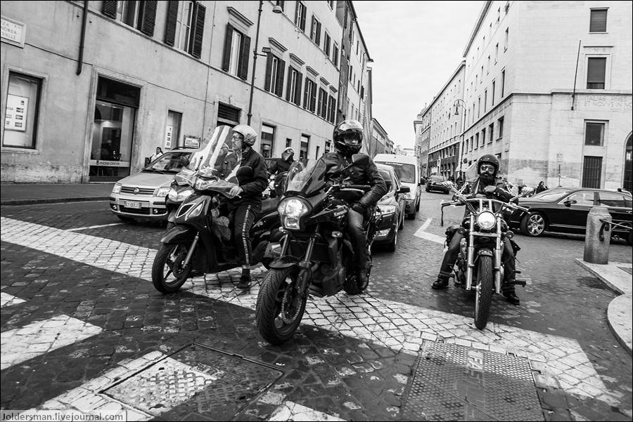 мотоциклисты в риме