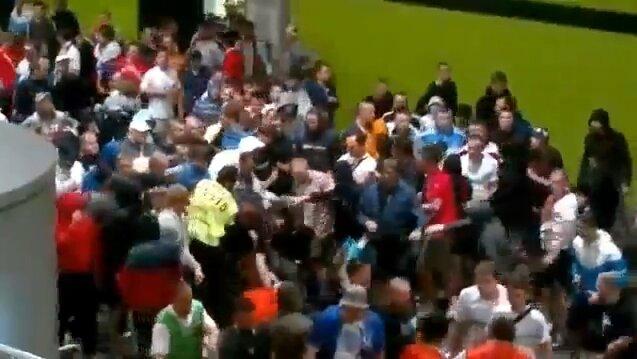 Русские фанаты избили польских стюардов