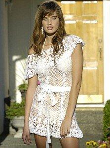 белоснежное пляжное платье от Анны Костуровой