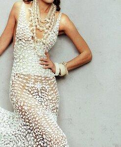 ОНЛАЙН Золотой мильфлер - шикарное вечернее платье