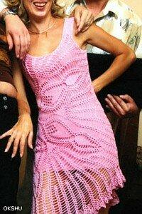 платье из салфетки:берем любую салфетку и... Наши воплощения