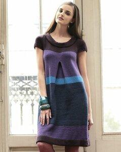 Полосатое платье из Phildar 009