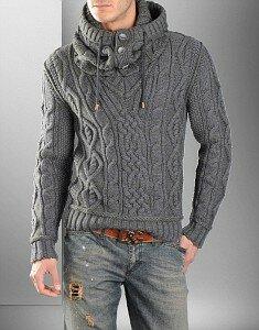 Принц Серебряный - мужской пуловер со снудом от D&G