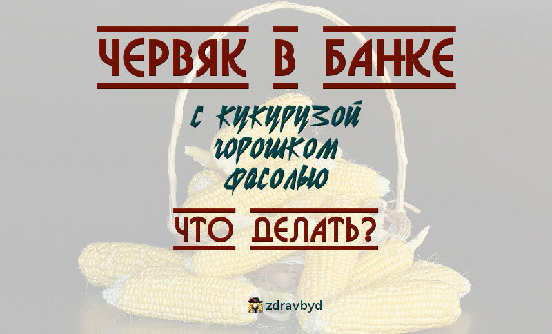 Червяк в банке с кукурузой, горошком, фасолью. Что делать?