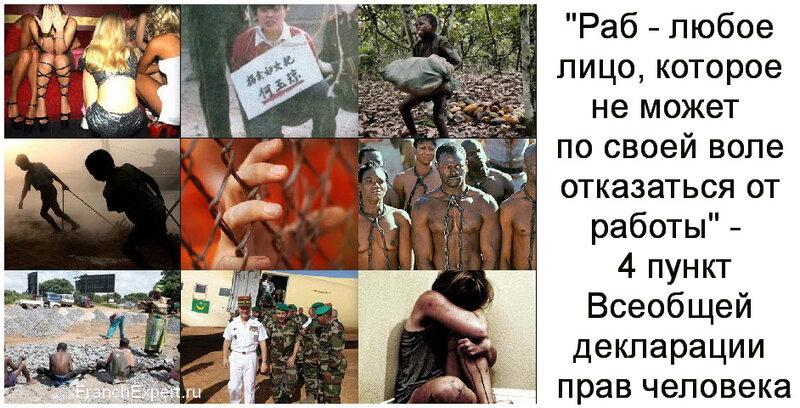 Рабство и рабы в современном мире