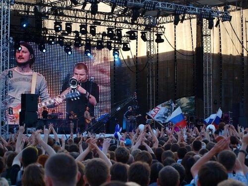 сцена на концерте ДДТ в Кирове