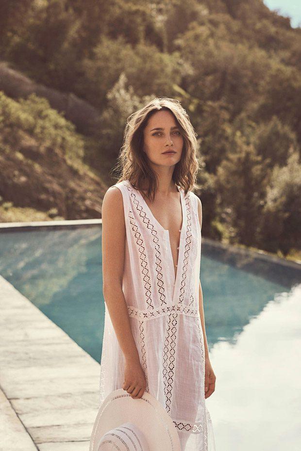 Karmen Pedaru Models Zara Home Beachwear 2017 Capsule Collection