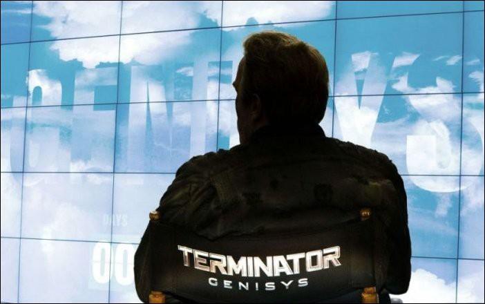 Фотографии на съемочной площадке фильмов про Терминатора