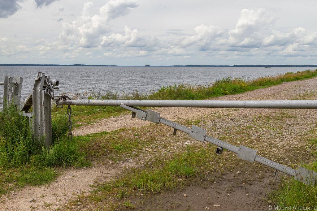 Шлагбаум, Иваньковское водохранилище