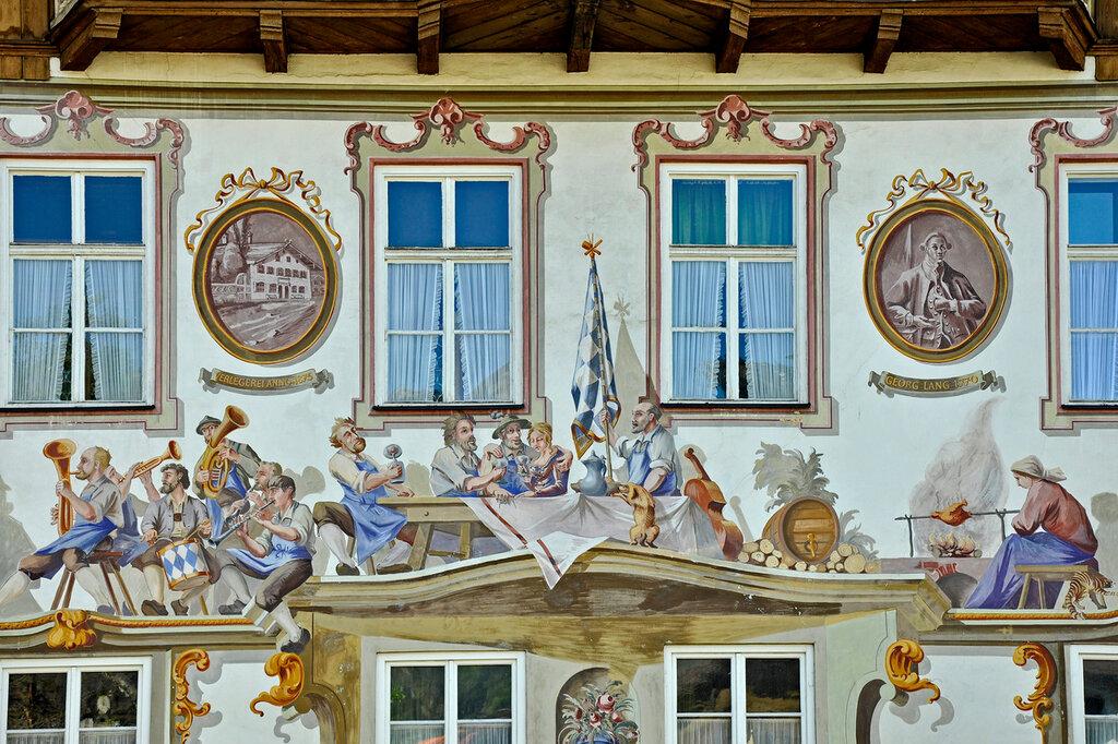 Обераммергау. Фрагмент росписи дома.