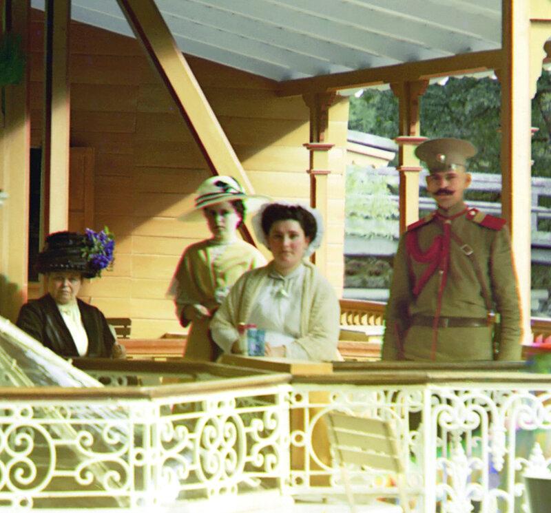 фото прокудина горского царской семьи из-за большей колесной