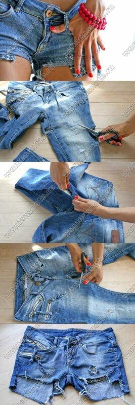 Шорты джинсовые сделать самим