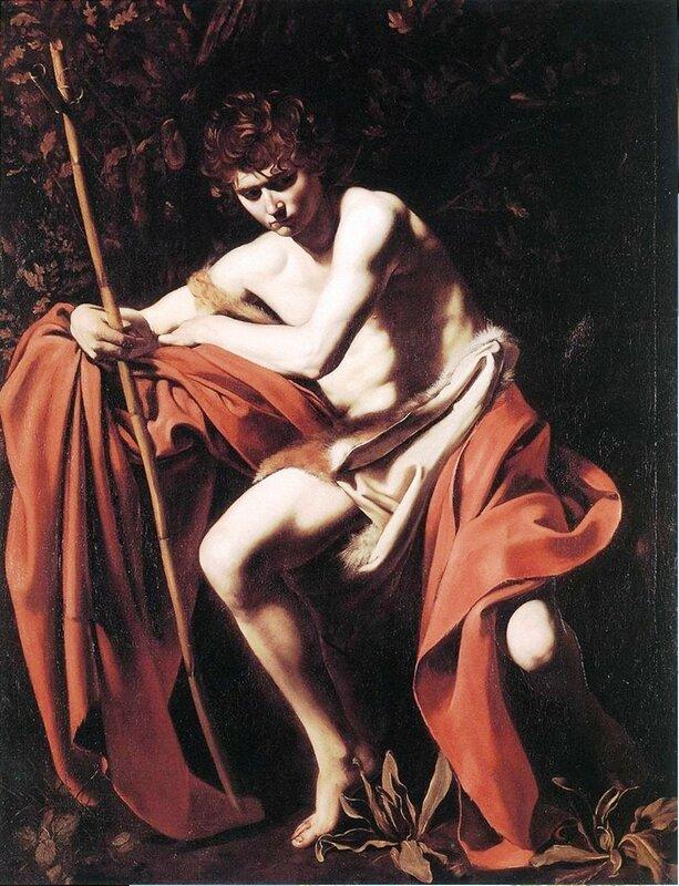 Караваджо. Иоанн Креститель (юноша с овном). 1602 Michelangelo Merisi da Caravaggi.jpg