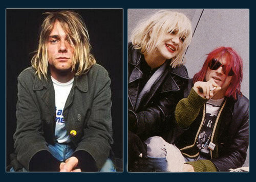 Kurt Сobain; Kurt Сobain with Courtney Love