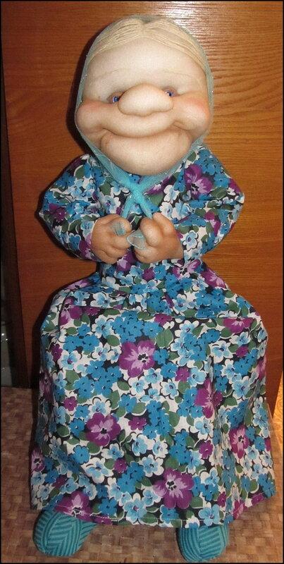 Кукла Федосья из колготок и синтепона. кукла. шитье.
