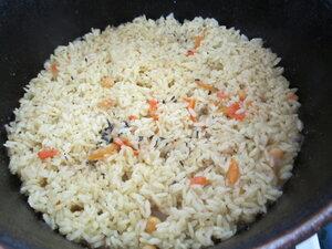 Рисовый плов с горохом