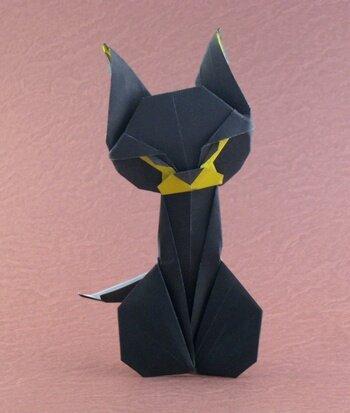 Как сделать из бумаги котенка оригами