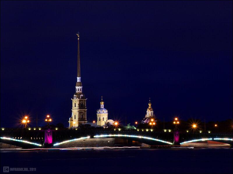 Ночной Санкт-Петербург, фотография ночного Санкт-Петербурга