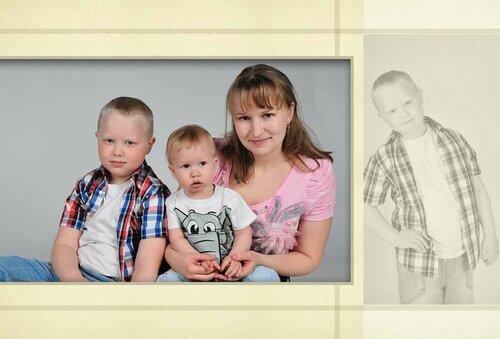 Анна Кожуховская и ее сыновья )))