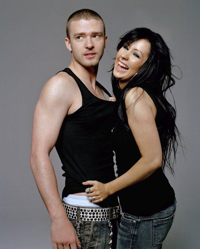 Кристина Агилера (Christina Aguilera) и Джастин Тимберлейк (Justin Timberlake) 2003